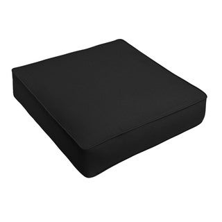 Sunbrella Canvas Black Corded Indoor/ Outdoor Deep Seating Chair Cushion