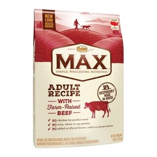 Nutro Max All Size Dogs Adult Dog Food Beef, Brown Rice 25 lb.