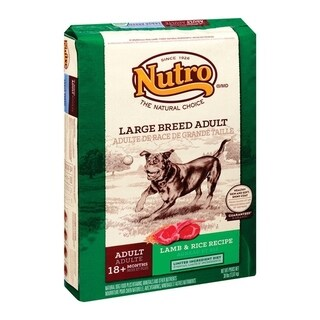 Nutro Natural Choice Large Adult Dog Food Lamb and Brown Rice 30 lb.