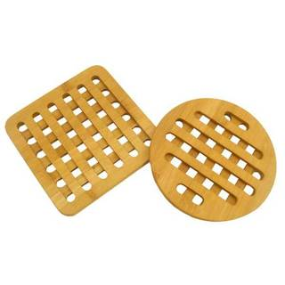 Home Basics Natural Bamboo Trivet, Set of 2