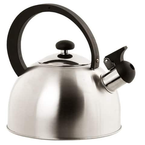 Home Basics Silver Stainless Steel Tea Kettle