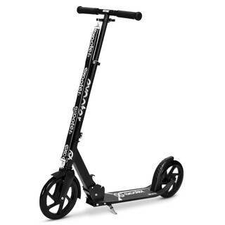 EXOOTER M1475BK 5XL Teen Cruiser Kick Scooter with 200mm Wheels in Black.
