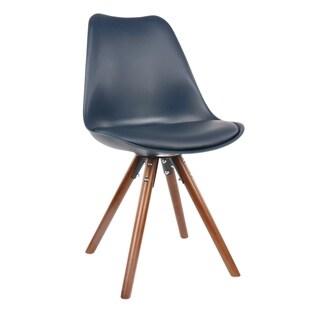 Viborg Deep Ocean Green Mid Century Side Chair Walnut Base (Set of 2)