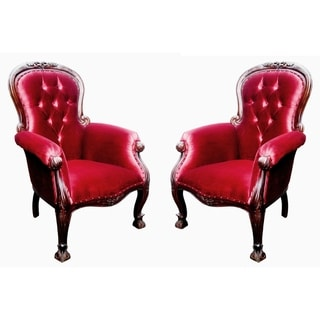 Handmade French Grandfather Arm Chair, Set of 2 (Indonesia)