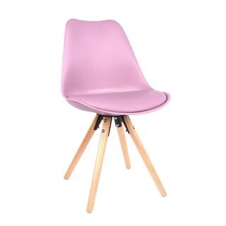 Shop Viborg Black Mid Century Side Chair Walnut Base Set
