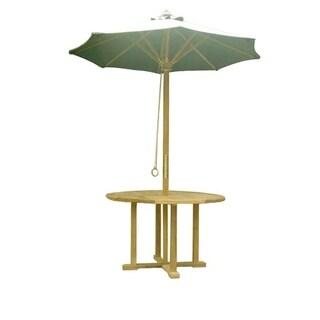 Teak Beachside Umbrella and Beachside Table