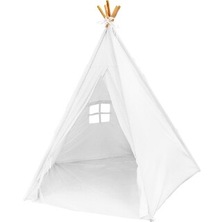 "Best Selling Indoor TeePee Tent - 70"" Tall Kids Classic Indian Play Tent with 5 Wood Poles and Carry Bag - Rawhide Look"