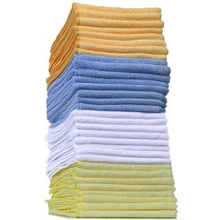 OxGord Microfiber Reusable Cleaning Cloth Duster Rag Towels (32-Pack)