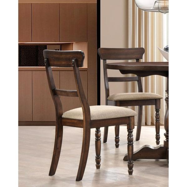 Shop Best Master Furniture Weathered Oak Sleigh: Shop Best Master Furniture Burnish Oak Side Chair (Set Of