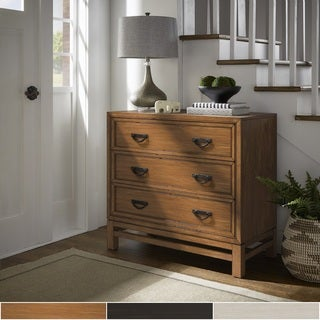 Whitney 3-Drawer Antique Campaign Chest by iNSPIRE Q Classic