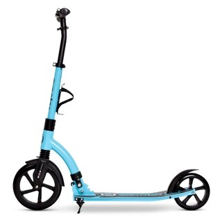 EXOOTER M1850VB 6XL Adult Kick Scooter with Front Shocks and 240mm/180mm Wheels in Vibrant Blue.