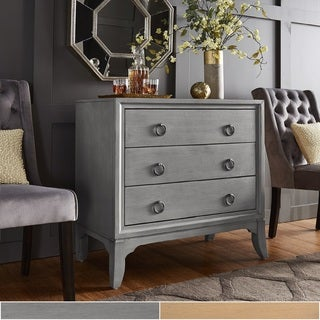 Whitney 3-Drawer Antique Ring Pull Chest by iNSPIRE Q Classic Classic