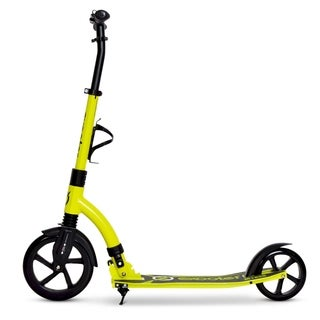 EXOOTER M1850VG 6XL Adult Kick Scooter with Front Shocks and 240mm/180mm Wheels in Vibrant Green.