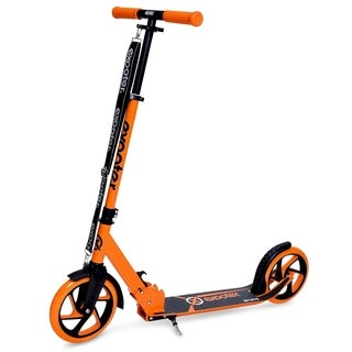 EXOOTER M1475VO 5XL Teen Cruiser Kick Scooter with 200mm Wheels in Vibrant Orange.