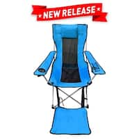 EasyGo Leg Rest Camping Chair Lightweight Foldable Reclining (Blue)
