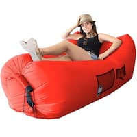 WooHoo 3.0 Giant Outdoor Inflatable Lounger with Carry Bag (Red)