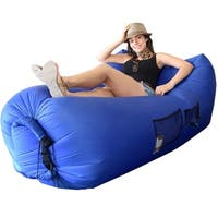 WooHoo 3.0 Giant Outdoor Inflatable Lounger with Carry Bag (Blue)