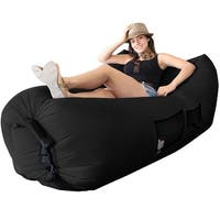 WooHoo 3.0 Giant Outdoor Inflatable Lounger with Carry Bag (Black)