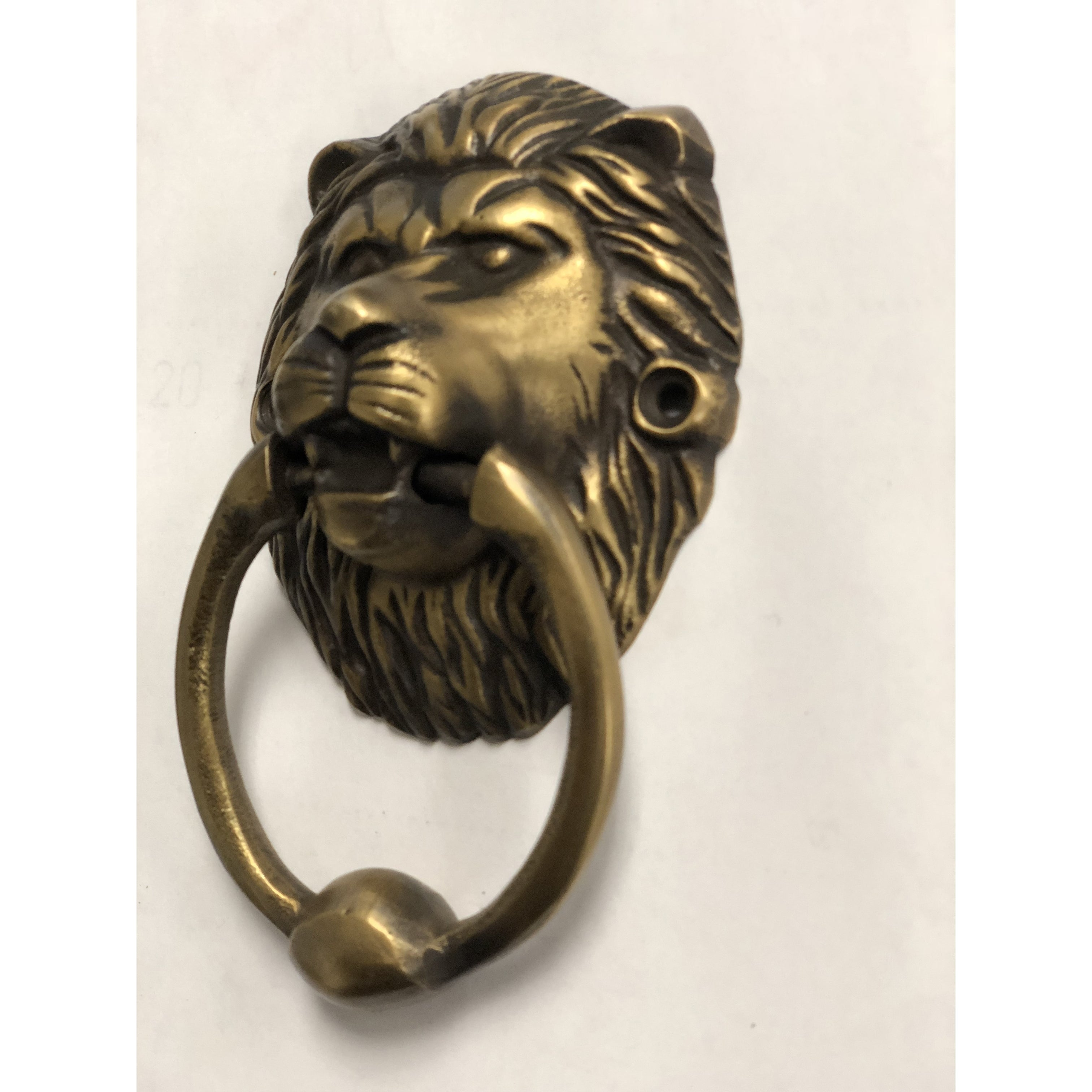 Brasso Lion Head Door Knocker Or Puller Sm