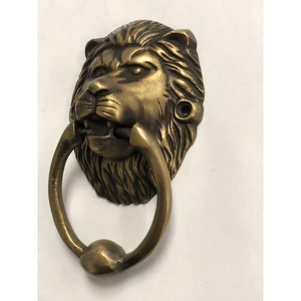 Handmade Brasso Lion Head Door Knocker