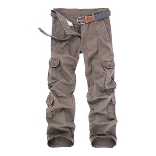 Men's Cargo Pants Mid-waist Full length Overalls with Zipper Closure - M (3 options available)