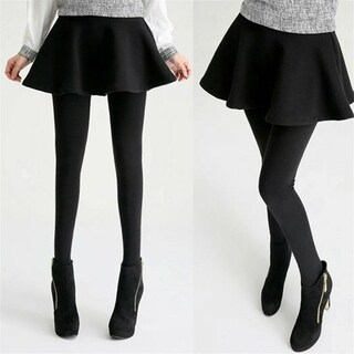 Casual Skirt Leggings Pants with A line Pleated Skirts for Women (4 options available)