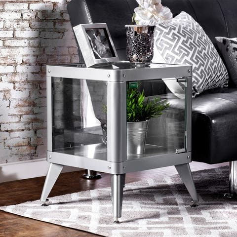 Furniture of America Linden Modern 1-shelf Metal Cabinet