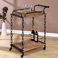 Carbon Loft Davy Industrial Chain Link Serving Cart