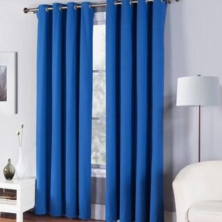 Fiesta Solid Cotton Single Window Curtain Panel