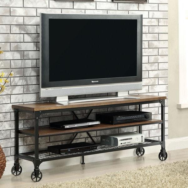 Shop Carbon Loft Akroyd Industrial Medium Oak Tv Stand On Sale