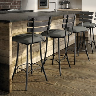 Carbon Loft Kettering Swivel Metal and Wood Counter Stool (4 options available)
