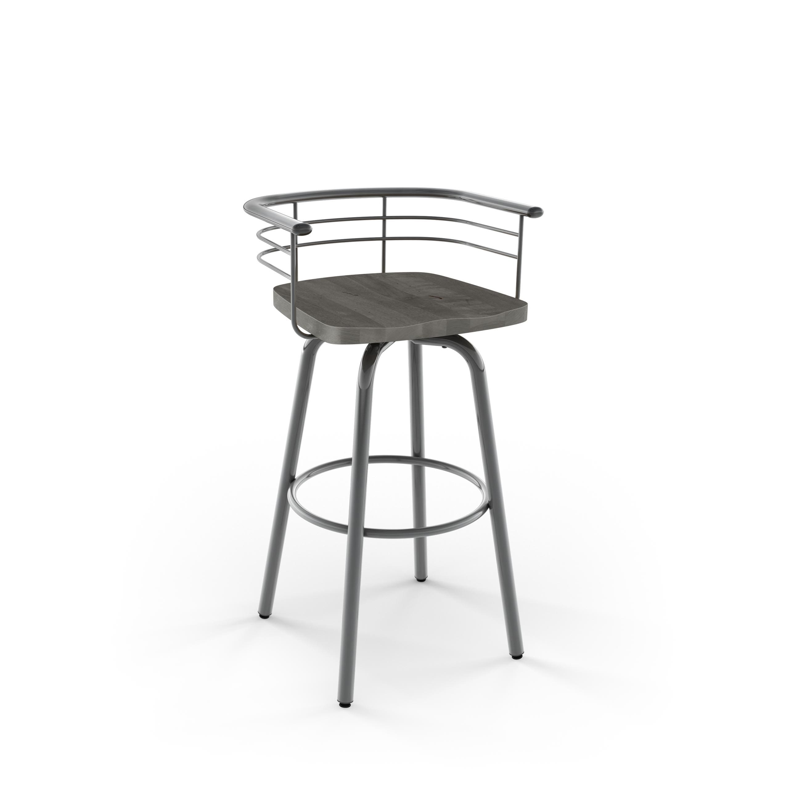Swell Carbon Loft Cantrell Swivel Metal Counter Stool With Distressed Wood Seat Unemploymentrelief Wooden Chair Designs For Living Room Unemploymentrelieforg