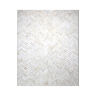 Strick & Bolton Manet Hand-stitched Chevron Cowhide Leather Rug