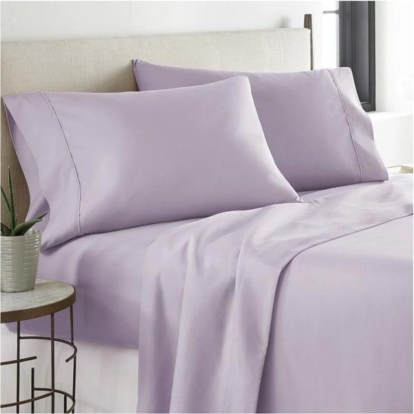 Luxury Purple 6pc Satin Sheet Set Wrinkle Free ALL SIZES Deep Pockets