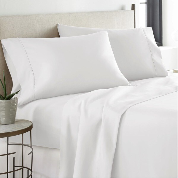 """Cal King-Cream 21"""" Extra Deep Pocket Ultra Soft Fitted Sheet with Corner Straps"""