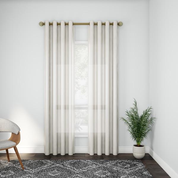 Porch & Den Ridgemeadow Faux Antique Silk Curtain Panel Pair