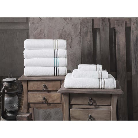Carbon Loft Parker Embroidery 100-percent Turkish Cotton Hand Towel (Set of 4) - 16x28 inches