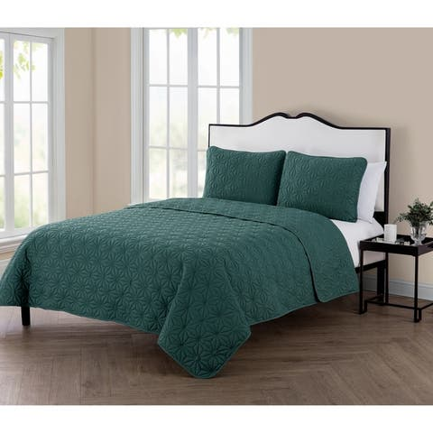 Carson Carrington Laitila 3 Piece Embossed Quilt Set