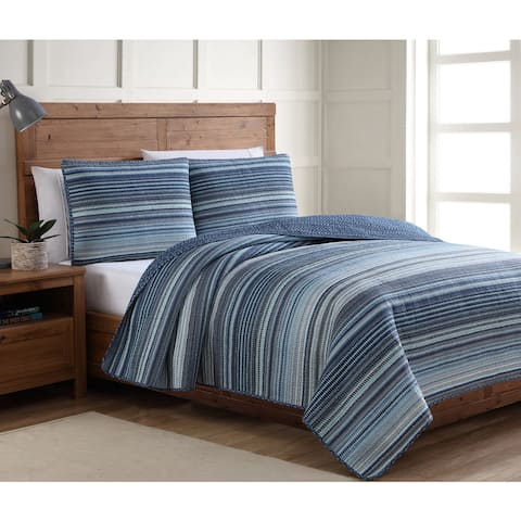 The Curated Nomad Flora Blue Quilt Set