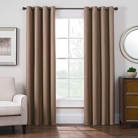 Carbon Loft Blakely Satin Room-darkening Grommet Top Window Curtain Panel
