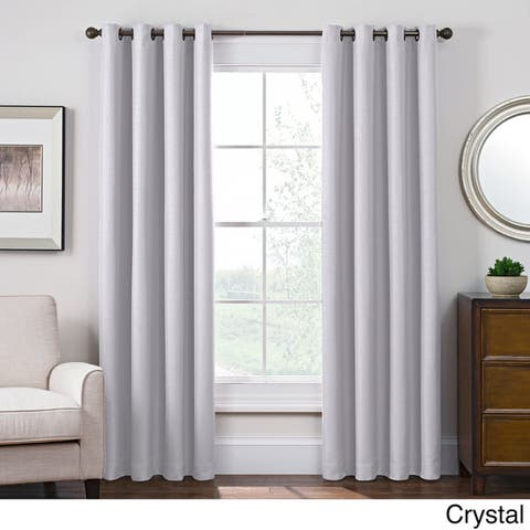 Carbon Loft Blakely Satin Room-darkening Grommet Top Window Curtain Panel