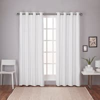 Oliver & James LeWitt Thermal Textured Linen Grommet Top Curtain Panel Pair