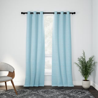 VCNY Home Livingston Solid Foamback Curtain Panel Pair