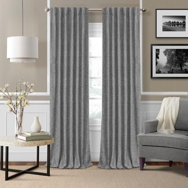 Strick & Bolton Morello Blackout Lined Rod Pocket Curtain Panel
