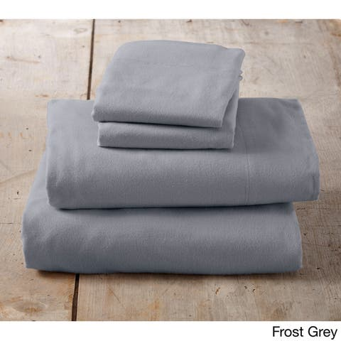 The Gray Barn Pinewood Extra Soft Deep Pocket Flannel Solid Sheet Set