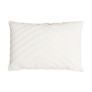 20x14 James Pleated Velvet Pillow (Option: Cream)
