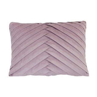 20x14 James Pleated Velvet Pillow (Option: Purple)