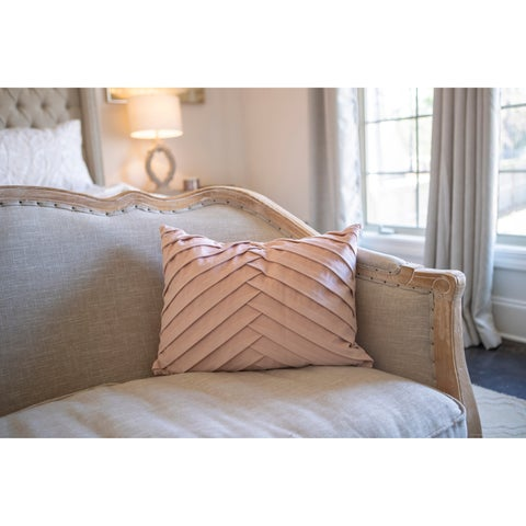 20x14 James Pleated Velvet Pillow