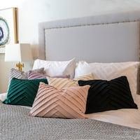 20x14 James Pleated Velvet Pillow