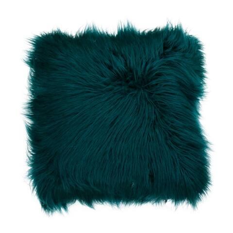 26x26 Keller Faux Mongolian Reverse to Micromink Pillow